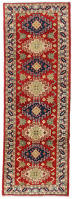 Kazak Teppe 62X184 Ekte Orientalsk Håndknyttet Teppeløpere Mørk Rød/Mørk Grå (Ull, Pakistan)