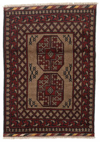 Afghan Teppich 86X119 Echter Orientalischer Handgeknüpfter Dunkelbraun/Dunkelrot (Wolle, Afghanistan)