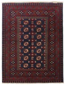 Afghan Teppich 101X135 Echter Orientalischer Handgeknüpfter Dunkelrot/Schwartz (Wolle, Afghanistan)