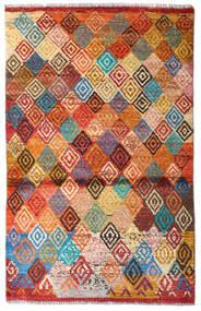 Moroccan Berber - Afghanistan 絨毯 87X137 モダン 手織り 赤/濃い茶色 (ウール, アフガニスタン)