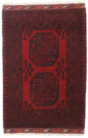 Afghan Rug 81X118 Authentic Oriental Handknotted Dark Red/Black (Wool, Afghanistan)