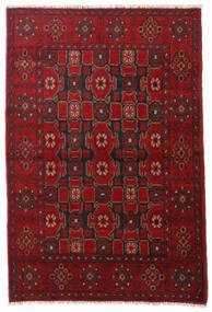 Afghan Tæppe 101X152 Ægte Orientalsk Håndknyttet Mørkerød/Rød/Mørkebrun (Uld, Afghanistan)
