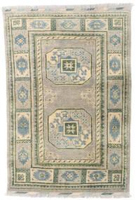 アフガン 絨毯 96X139 オリエンタル 手織り 薄い灰色/暗めのベージュ色の (ウール, アフガニスタン)