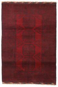 Afghan Teppe 119X170 Ekte Orientalsk Håndknyttet Mørk Rød/Mørk Brun (Ull, Afghanistan)