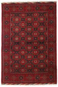 Afghan Tæppe 121X177 Ægte Orientalsk Håndknyttet Mørkerød/Mørkebrun (Uld, Afghanistan)