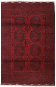 Afgan Dywan 121X180 Orientalny Tkany Ręcznie Ciemnoczerwony/Ciemnobrązowy (Wełna, Afganistan)
