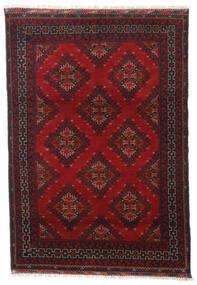 Afgan Dywan 119X172 Orientalny Tkany Ręcznie Ciemnoczerwony/Czarny (Wełna, Afganistan)