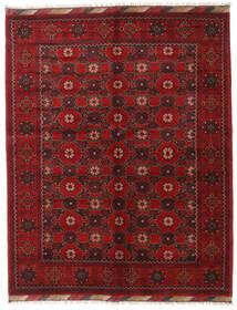 Afghan Tæppe 158X200 Ægte Orientalsk Håndknyttet Mørkerød/Mørkebrun (Uld, Afghanistan)