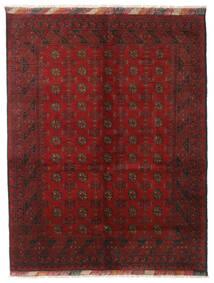 Afghan Tæppe 151X195 Ægte Orientalsk Håndknyttet Mørkerød/Mørkebrun (Uld, Afghanistan)