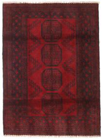 Afghan Teppe 122X165 Ekte Orientalsk Håndknyttet Mørk Rød/Mørk Brun (Ull, Afghanistan)
