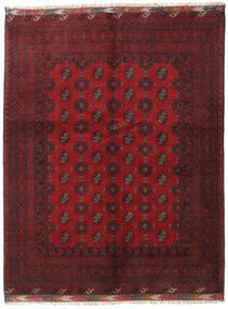アフガン 絨毯 153X196 オリエンタル 手織り 深紅色の/濃い茶色 (ウール, アフガニスタン)