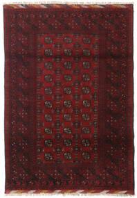 Afghan Teppe 122X173 Ekte Orientalsk Håndknyttet Mørk Rød/Mørk Brun (Ull, Afghanistan)