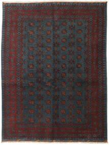 アフガン 絨毯 153X200 オリエンタル 手織り 黒/深紅色の (ウール, アフガニスタン)