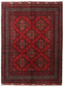 Afghan Tæppe 153X199 Ægte Orientalsk Håndknyttet Mørkerød/Mørkebrun (Uld, Afghanistan)