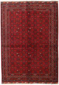 Afghan Tæppe 150X211 Ægte Orientalsk Håndknyttet Mørkerød/Mørkebrun (Uld, Afghanistan)