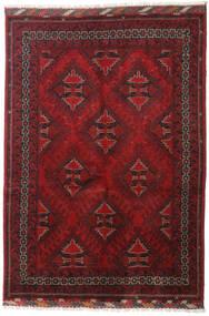 Afghan Teppe 122X175 Ekte Orientalsk Håndknyttet Mørk Rød/Mørk Brun (Ull, Afghanistan)