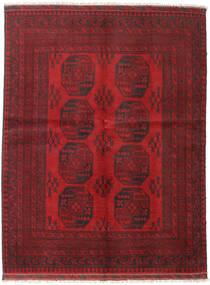 Afghan Tæppe 152X197 Ægte Orientalsk Håndknyttet Mørkerød/Mørkebrun (Uld, Afghanistan)