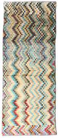 Moroccan Berber - Afghanistan 絨毯 73X187 モダン 手織り 廊下 カーペット ベージュ/濃いグレー (ウール, アフガニスタン)