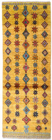 Moroccan Berber - Afghanistan Rug 70X196 Authentic  Modern Handknotted Hallway Runner  Orange/Light Brown (Wool, Afghanistan)