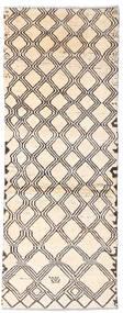 Moroccan Berber - Afghanistan 絨毯 73X192 モダン 手織り 廊下 カーペット ベージュ/薄い灰色 (ウール, アフガニスタン)