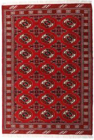 Turkaman Teppich 135X191 Echter Orientalischer Handgeknüpfter Dunkelrot/Rot (Wolle, Persien/Iran)