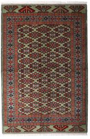 Turkaman Teppich 138X207 Echter Orientalischer Handgeknüpfter Dunkelrot/Dunkelbraun (Wolle, Persien/Iran)