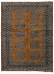Afghan Vloerkleed 146X194 Echt Oosters Handgeknoopt Donkergrijs/Bruin (Wol, Afghanistan)
