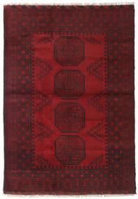 Afghan Teppe 123X173 Ekte Orientalsk Håndknyttet Mørk Rød/Mørk Brun (Ull, Afghanistan)