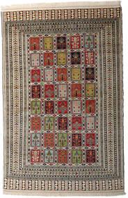 Turkaman Matta 145X203 Äkta Orientalisk Handknuten Mörkgrå/Ljusgrå (Ull, Persien/Iran)