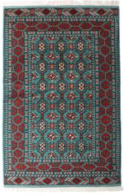 トルクメン 絨毯 140X208 オリエンタル 手織り 黒/深緑色の (ウール, ペルシャ/イラン)