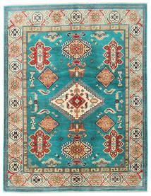 カザック 絨毯 153X199 オリエンタル 手織り ターコイズブルー/ホワイト/クリーム色 (ウール, パキスタン)