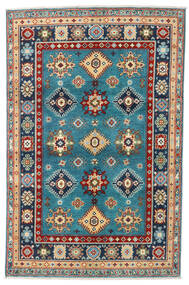 Kazak Rug 120X184 Authentic  Oriental Handknotted Dark Beige/Black (Wool, Pakistan)