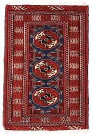 Turkaman Teppe 64X95 Ekte Orientalsk Håndknyttet Mørk Rød (Ull, Persia/Iran)