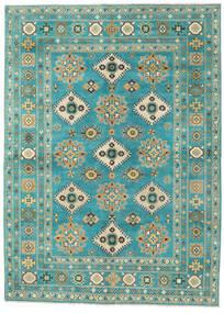 カザック 絨毯 176X243 オリエンタル 手織り ターコイズブルー/暗めのベージュ色の (ウール, パキスタン)