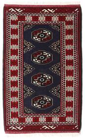 Turkaman Matta 63X98 Äkta Orientalisk Handknuten Svart/Mörkröd (Ull, Persien/Iran)