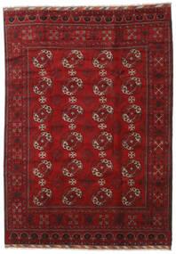 アフガン 絨毯 206X290 オリエンタル 手織り 深紅色の (ウール, アフガニスタン)