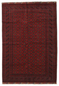 Afghan Rug 208X297 Authentic  Oriental Handknotted Dark Red (Wool, Afghanistan)