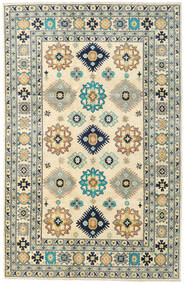 Kazak Rug 201X311 Authentic Oriental Handknotted Light Grey/Beige (Wool, Pakistan)
