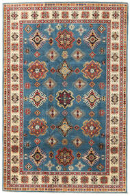 Kazak Rug 199X302 Authentic Oriental Handknotted Dark Blue/Light Brown (Wool, Pakistan)