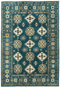 Kazak Rug 203X298 Authentic Oriental Handknotted Dark Turquoise /Blue (Wool, Pakistan)