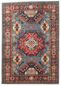 カザック 絨毯 203X293 オリエンタル 手織り 青/深紅色の (ウール, パキスタン)