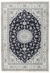 Nain Matta 196X290 Äkta Orientalisk Handknuten Ljusgrå/Mörklila (Ull, Persien/Iran)