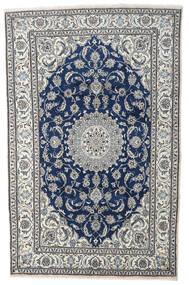 나인 러그 198X306 정품 오리엔탈 수제 라이트 그레이/다크 블루 (울, 페르시아/이란)