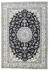 Nain Matta 200X285 Äkta Orientalisk Handknuten Ljusgrå/Svart (Ull, Persien/Iran)