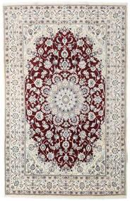 Nain Matta 194X305 Äkta Orientalisk Handknuten Ljusgrå/Mörkbrun (Ull, Persien/Iran)