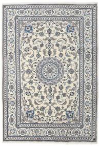 Nain Teppe 204X292 Ekte Orientalsk Håndknyttet Beige/Lys Grå (Ull, Persia/Iran)