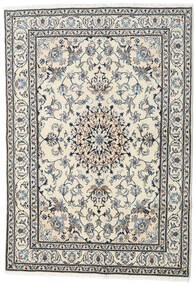 Nain Teppe 167X232 Ekte Orientalsk Håndknyttet Beige/Lys Grå (Ull, Persia/Iran)