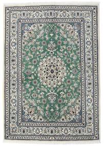 Nain Teppe 165X235 Ekte Orientalsk Håndknyttet Mørk Beige/Beige (Ull, Persia/Iran)