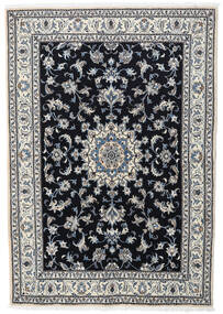 Nain Teppe 166X236 Ekte Orientalsk Håndknyttet Svart/Lys Grå (Ull, Persia/Iran)