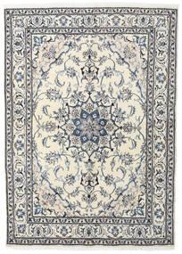 Nain Teppich  164X228 Echter Orientalischer Handgeknüpfter Beige/Hellgrau (Wolle, Persien/Iran)